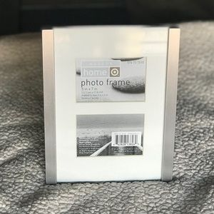 Target Brushed Silver & Glass Picture Frame | NWT